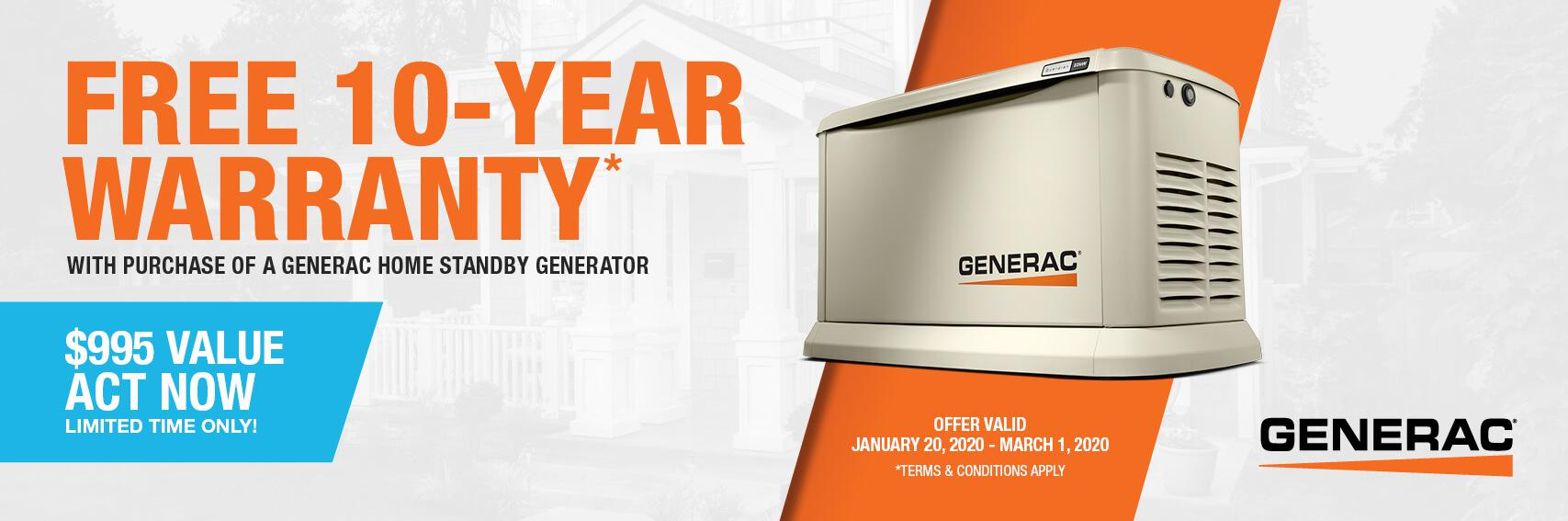 Homestandby Generator Deal | Warranty Offer | Generac Dealer | EWING, NJ